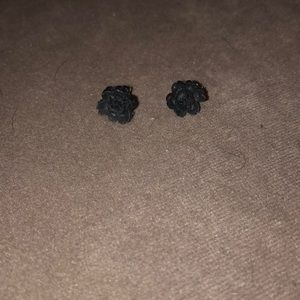 Jewelry - Black Rose Earrings NWOT